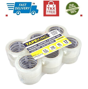 Tape King Super Thick 3 2mil Clear Packing Tape 12 Refill Rolls Heavy Duty