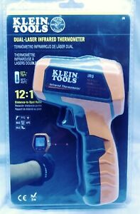 Klein Tools Infrared Thermometer Dual targeting Laser Auto scan Backlit Display