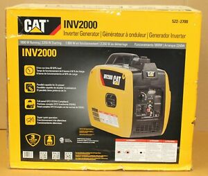 Cat Inv2000 1800w Gas Powered Portable Inverter Generator New Factory Sealed