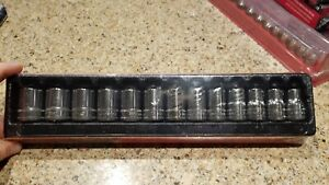New Snap On 1 2 Drive Metric Shallow Socket Set 12 24mm 313twmya