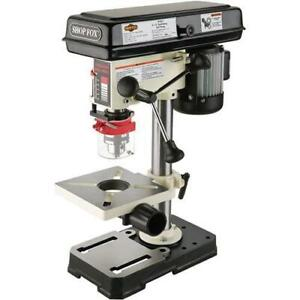 Shop Fox W1667 1 2 H p 8 1 2 Bench top Oscillating Drill Press 1 725 Rpm