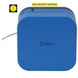 Brother Blue P touch Cube Smartphone Label Maker Ptp300bt Free Priority Shipping