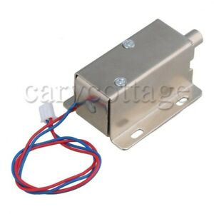 Dc 12v Metal Solenoid Electric Lock For File Drawer Cabinet Door Latch Assembly