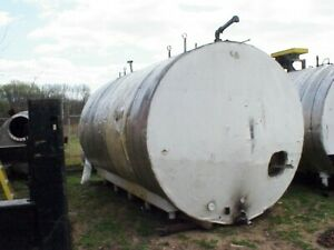 6500 Gallon Horizontal Stainless Steel Storage Tank With Heating Coils