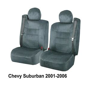 Gray Custom Scottsdale Chevy Suburban Seat Covers W Built In Seat Belt