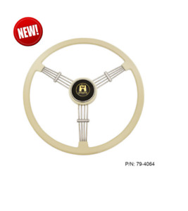 Empi 79 4064 Banjo Style Ivory 3 Spoke Steering Wheel 15 5 Diameter