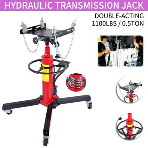 1100lbs Double acting Transmission Jack Hydraulic W 360 For Car Auto Lift