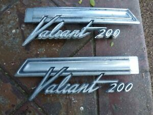 Plymouth Valiant 200 Emblem Pair 2602952 With Tabs