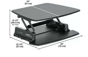 Varidesk Pro 30 Height Adustable Standing Desk Black great For Small Spaces 325