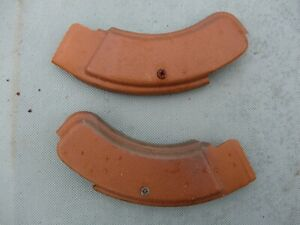 1971 1973 Mustang Mach 1 Cougar Xr7 Ginger Front Seat Hinge Covers Screws 71 73