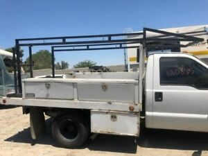 06 Ford F350 Super Duty Used 10 Ft Royal Utility Flat Bed W Ladder Rack