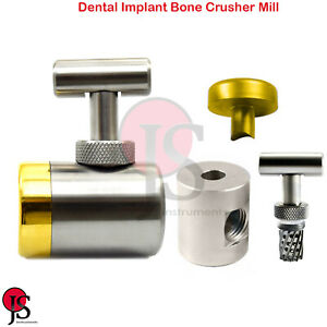 Implant Bone Crusher Mill Bone Graft Grinder Dental Instruments Stainless Steel
