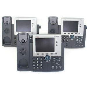 lot Of 3 Cisco 7945g Ip Voip Phone cp 7945g Parts Only With Stand