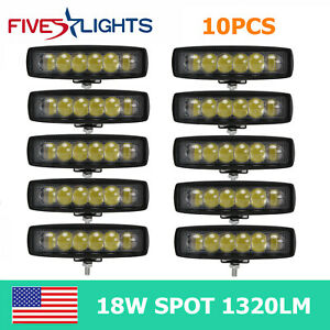 10x 6 Inch 18w Led Work Light Bar Offroad 4d Opticals Spot Light Trailer Bumper
