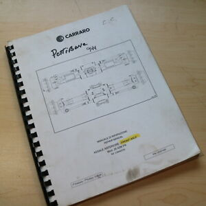 Carraro Front Axle Service Manual Cat Repair Book Pettibone 944 Overhaul Guide
