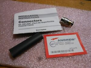 Andrew Tnc Male Rf Connector W contact boot 41swt Nsn 5935 01 045 8073
