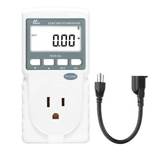 Kilowatt Monitor Watt Usage Meter Electrical Power Precise W Extension Cord New