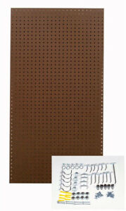 Triton Pegboard Wall Organizer Storage Heavy Duty Hook Rack 1 4 X 1 8 Brown Shop