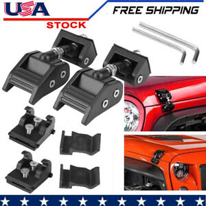 Hood Latch Lock Catch Wrangler Jk Parts For 2007 2017 Jeep Wrangler Black Pair