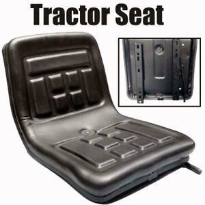 Black Back Rest Tractor Seat Mini Forklift Digger Thickly padded Pvc Waterproof