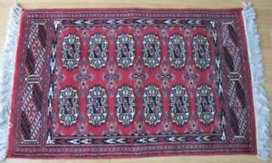 Hand Woven Pakistani 100 Wool Bokhara Prayer Rug 25 X 39