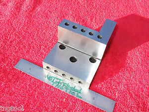 Angle Plate Compound Machinist toolmaker Sp 136 Bolt On Inspection Grind Mill Qa