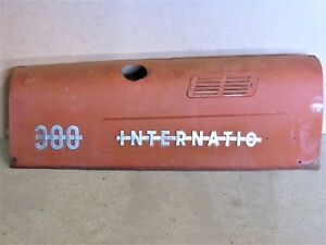 International 300 Utility Tractor Left Hood With 2 Chrome Emblems All Original