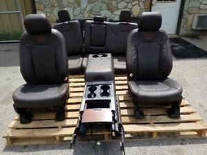 17 18 Ford F250 F350 Super Duty King Ranch Leather Seats Console Front Rear
