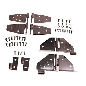 Rugged Ridge 11180 03 Stainless Steel Hinge Kit 87 95 Jeep Wrangler Yj Half Door
