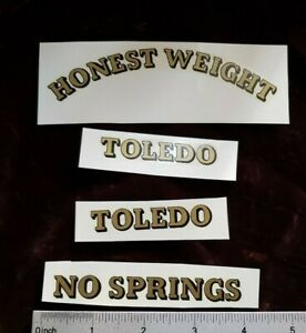 Toledo No Springs Honest Weight Candy Scale Coin Machine Decal Cs 4 Decal Set