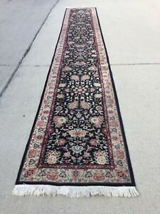Fine Quality Genuine Antique Large Wool Hand Knotted Rug Carpet Runner