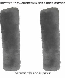 Charcoal Color 100 Genuine Sheepskin Seat Belt Cover Comforter