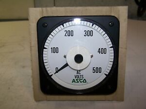 New Asco Crompton Bls 77 0 500 Ac Volts Panel Meter 502870 027