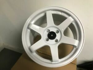 Four 15 Te Grid Style White Rims Wheels Fits Honda Civic Integra Civic