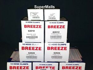 Hose Clamps Stainless Steel Band 04 06 10 12 20 24 28 32 Breeze