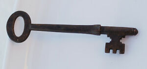 Large 4 Inch Antique 19thc Victorian Jail Cell Key