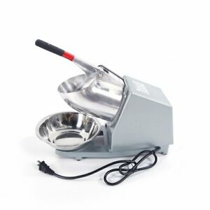 Commercial Electric Ice Shaver Snow Cone Crusher Maker Machine Shaved 143lbs