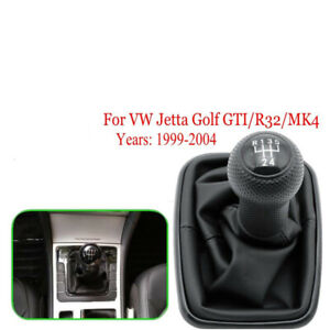 5 Speed Gear Shift Knob Gaiter Boot Cover For Vw Jetta Golf Mk4 Gti R32 99 04