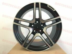 18 Mercedes Benz Black Machine Face Gt Amg Style Rims Staggered Wheels 5x112