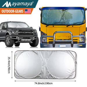 Jumbo Car Windshield Sunshade Truck Sun Shade Visor Reflective Uv Block Pop Up