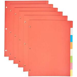 3 Ring Binder Dividers With 8 Tabs Pack Of 6 Sets