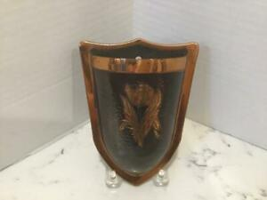 Vintage Arts And Crafts Style Copper Wall Pocket Vase Tulip Decoration