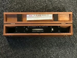 Starrett Master Precision Level No 199 In Original Wood Case