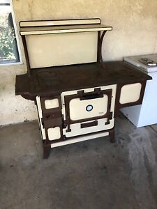 Antique Monarch Malleable Wood Burning Stove 2 Burner Oven Water Bath