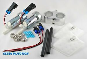 Dual 450lph E85 Electric Fuel Pump In Tank Universal Racing Wrx Sti Ej20 Ej25
