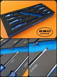 Blue Point 8pc Screwdriver Set Tool Control Foam Inc Vat New As Sold By Snap On