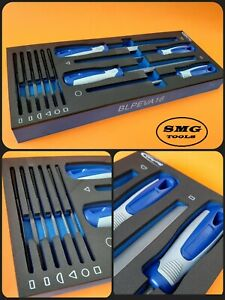 Blue Point 10 Pc Files Set In Eva Control Foam Brand Inc Vat As Sold By Snap On