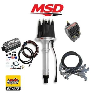Msd Complete Black Ignition Kit Digital 6al distributor wires coil Sbc Chevy