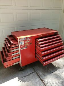 Snap On Kr 562 b Rolling Tool Chest Box 13 Drawer W Chemical Cabinet Red