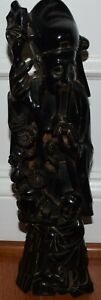 Chinese Antique Cherry Amber Bakelite Immortal God Figurine Statue Large 14in